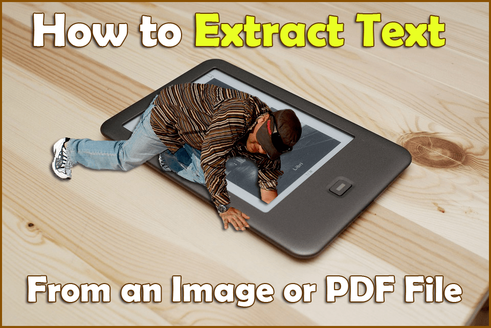 how to extract text from image or pdf